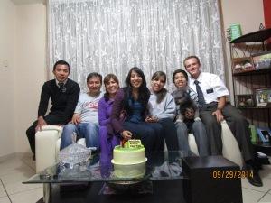 FHE with the Familia Guzman. Ellos son Chevere! (They are cool!)